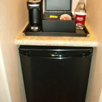 Fridge and coffee machine