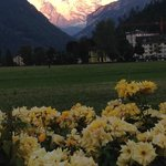 por do sol em interlaken