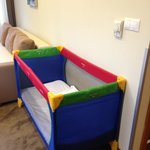 The baby beds. Clean and comfortable.