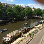 View from the room of Singel Canal