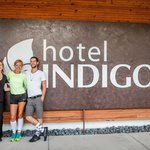 Matt and I with a staff member at Hotel Indigo. Great Staff, so cool!