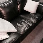 worn out sofa - not a good look