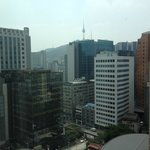 View from 17th floor of Lotte Hotel Seoul