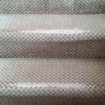 Threadbare carpet on the stairs
