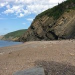 Beach at Meat Cove, near Burton's Oasis Sunset, Bay St Lawrence, NS