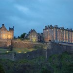 Edinburgh Castle in summer twilight after 11pm