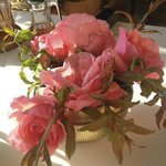 Roses from the garden at breakfast..