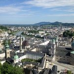 High above Salzburg from the ramparts of the old fortress.