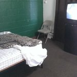 Whole room, looks like jail cell, compare with website not the same