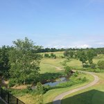 Beautiful view of golf course from deck of hotel