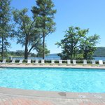 Wonderful heated pool overlooking the lake!
