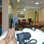 Our room (good for 6 pax) but in my opinion can be more of 6 persons. Sorry for the feet and the