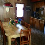 Beautiful big table and roomy kitchen area. Spent alot of time here.