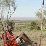 Maasai warrior resting