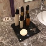 Tower themed toiletries @ Jumeirah Etihad Towers
