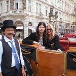 Our carriage ride in Prague