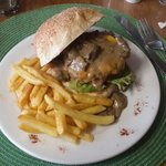 Venison Burger. with great chips!