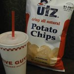 five guys(summer st.) and UTZ chips....the best chips in this world (Walgreen in washington st.)