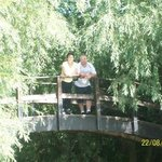 Me and my wife on the thorpe park bridge