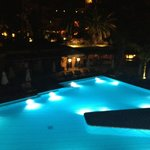 The pool is gorgeous by day and by night