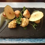scallops with apple puree