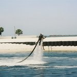 Water jet pack in Destin Harbor.
