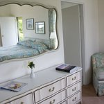 Dresser Area with large Mirror