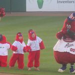 Archie, Reno Aces Baseball Game, and fans (Fourth of July) Reno Aces Baseball