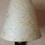 Water-stain on lamp shade