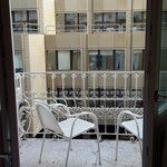 Small balcony with two chairs