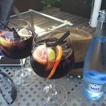 Sangria at the pool - delicious
