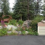 Welcoming Garden at Susitna Sunsets B&B