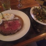 12 oz prime rib with Brussels sprouts.....