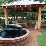 Gazebo (w/ TV's) and Fountain