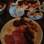 Tasty Irish breakfast included
