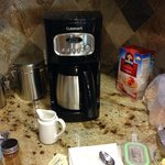 Coffee maker provided by the hotel