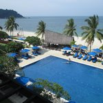 Pool, beach and Sampan bar