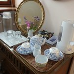 Tea in our room in Lamberden Cottage