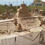 Sand Sculptures on Boardwalk 7-6-14