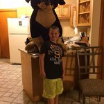 "JD big winner of this big dog ""AKA"" ""Fluffy"". and a massive nerf gun, and over 40,000 point winn"