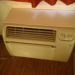 The air conditioner which I was told was on a timer. Although, it ran continuously after the sun