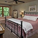 The Red Mountain room is a delightful romantic getaway