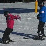 On the slopes after ski school