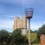 Orford Castle, 2 minutes walk away, worth a visit