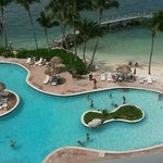Fellow vacationers took these pics for us in the pool from their balcony
