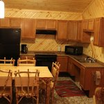 ADA Wheelchair Accessible Family Cabin - kitchen area