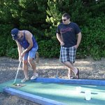 We always love playing miniature golf.