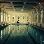 The indoor pool in the spa