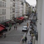 View of Rue Cler from our room