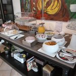 Breakfast spread at Albergo Stella